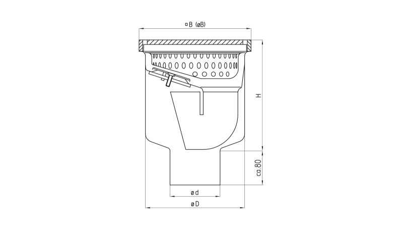 industriebodeneinlauf drs opti s. Black Bedroom Furniture Sets. Home Design Ideas