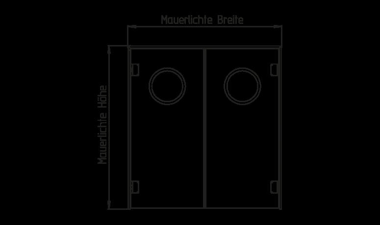 kunststoff-pendeltür ppt1 / ppt2
